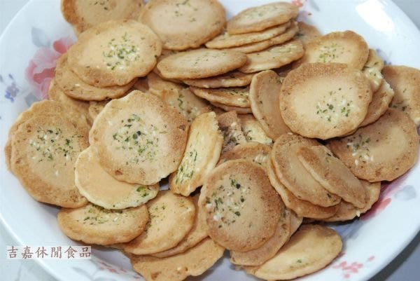 【吉嘉食品】海苔薄片/海苔金錢餅/海苔小煎餅(蛋素) 500公克[#500]{3107}