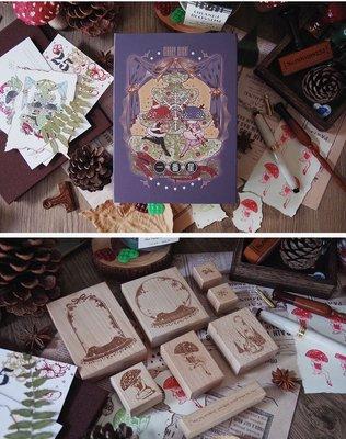 日本進口手賬花園 【現貨】 一番星 新品 第三彈 圣誕奇妙夜馴鹿精靈木質手帳印章