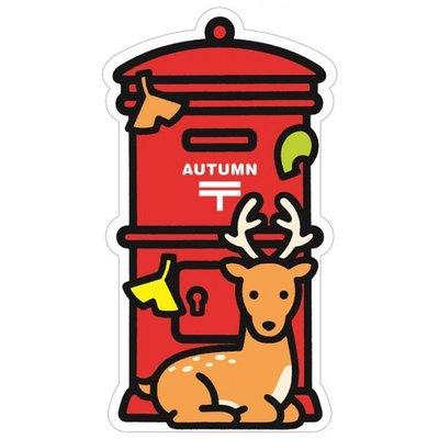 Ariel's Wish超可愛2017日本郵局郵便局秋季限量發售秋季紅楓麋鹿楓葉銀杏紅色郵筒交換禮物郵筒明信片卡片