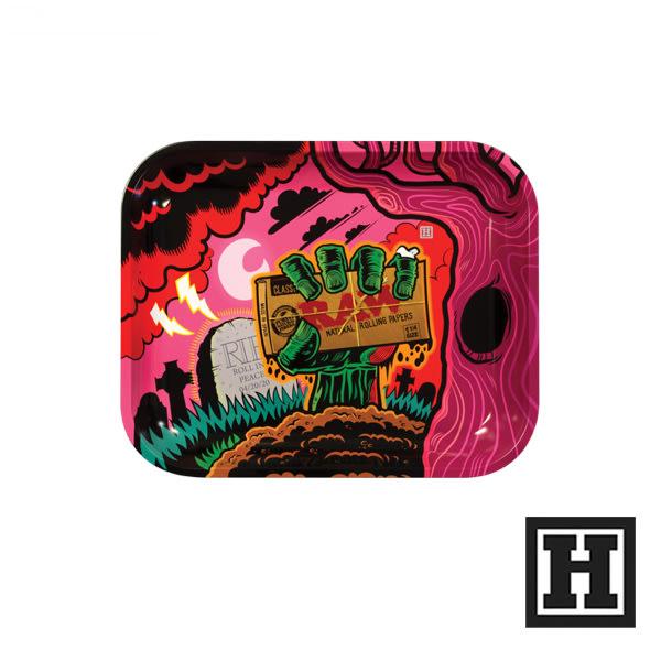 [H Market] 西班牙原裝 RAW Metal Rolling Tray Zombie M 捲菸盤 捲菸 台灣
