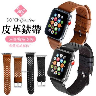 Apple Watch 1 2 3 皮革圓點透氣錶帶 38mm 42mm 【R0425021】