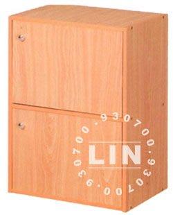 【品特優家具倉儲】A954-01收納櫃書櫃資料櫃二層門櫃優惠價