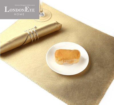 【 LondonEYE 】NeoClassic新古典X奢華Dining系列X珍珠金仿皮西餐墊 豪宅裝飾/樣品屋TR06