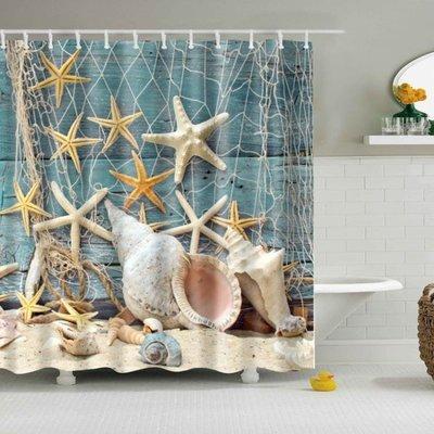 浴簾防水加厚防霉宜家不透明布料洗澡布隔斷簾浴室擋水歐式地中海