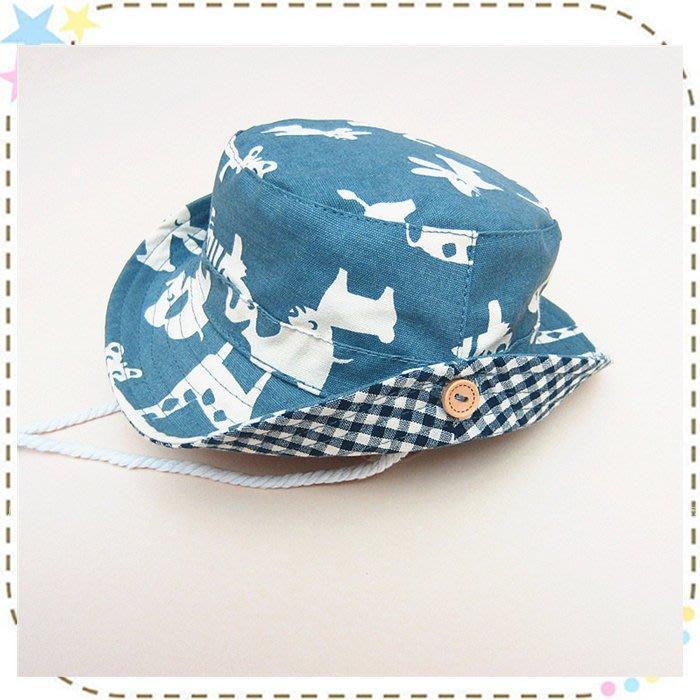 貝克比比屋☆夏天寶寶遮陽帽 、兒童遮陽漁夫帽/動物漁夫帽*44cm、46cm、48cm
