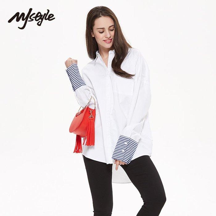 長版襯衫正韓版MJstyle TOPFEELING女裝女長款休閑長袖襯衫-7171200589-30