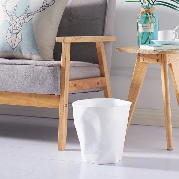 日式無蓋垃圾桶家用大號垃圾筒塑料客廳臥室垃圾簍廚房衛生間紙簍