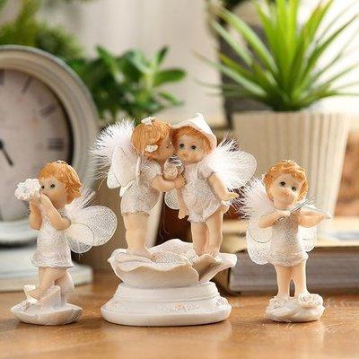 歐式花仙子天使擺件創意樹脂客廳酒櫃裝飾...