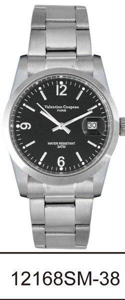(六四三精品)Valentino coupeau(真品)(全不銹鋼)精準男錶(附保証卡)12168SM-38