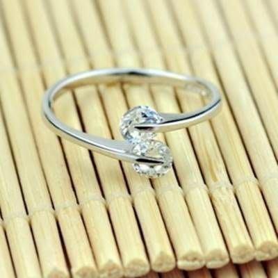 925純銀戒指 雙鑽戒指-優雅精緻質感情人節生日禮物女配件 銀飾73af26 [獨家進口][米蘭精品]