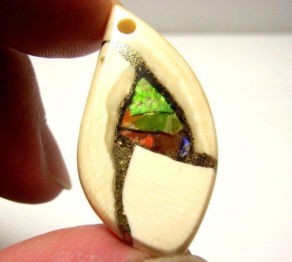 小風鈴~天然頂級魔法石象牙斑彩石墜子(重:4.3g) 發達石李居明推薦(致勝心願的魔法石)