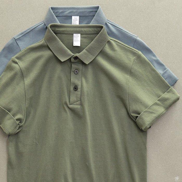 衣尚時裝☆ZS☆日系街頭簡約水洗效果短袖POLO衫短袖T恤(二色)~預購+現貨