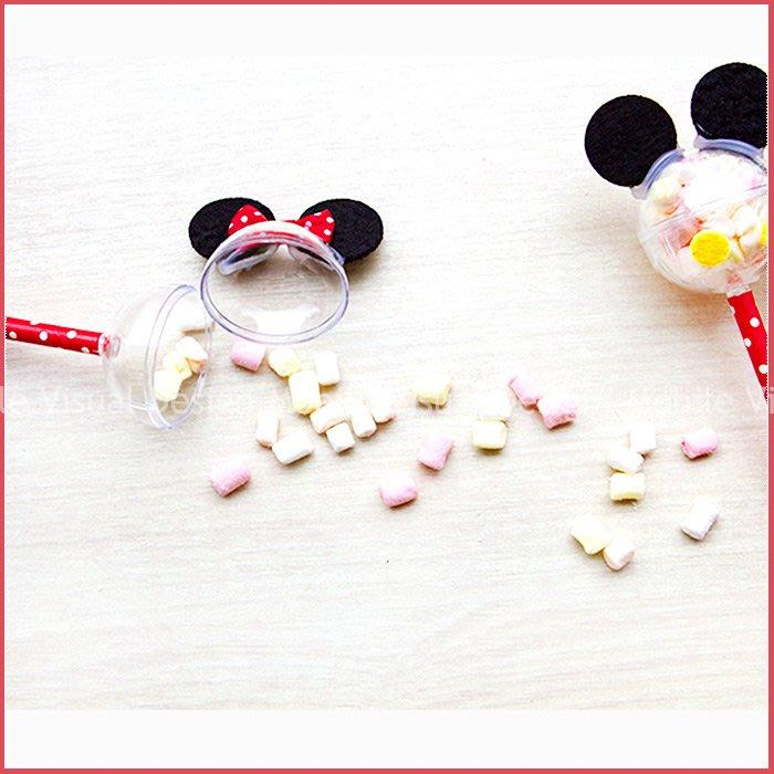 米奇米妮迷你棉花糖棒(單1支價,可選米奇或米妮)-情人節聖誕節 生日分享 慶生 婚禮小物 餐廳民宿活動禮贈品