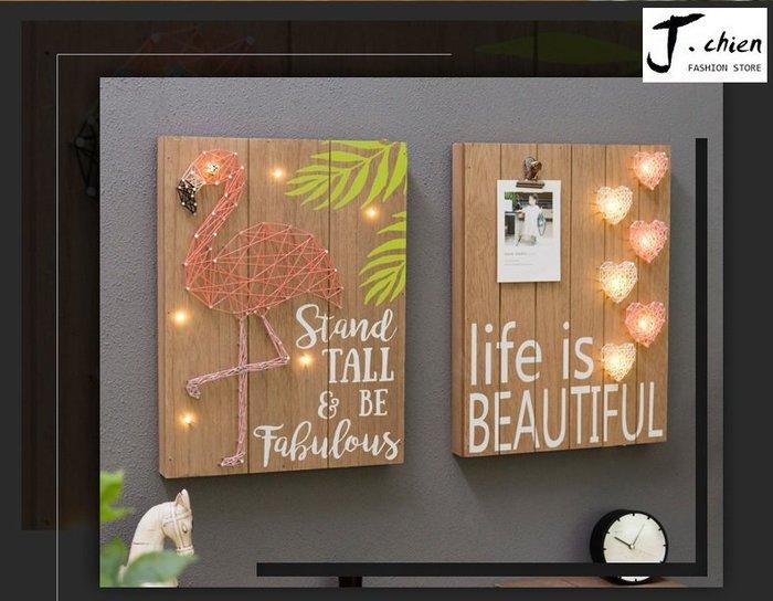 J.chien ~[全館免運]工業風家居牆面裝飾品掛飾 餐廳夜店咖啡廳木板面掛件 掛畫