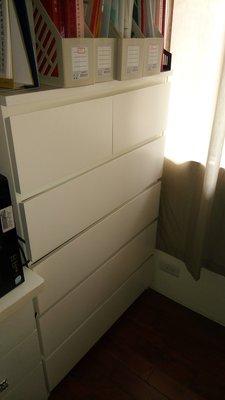 @小木瓜  IKEA  白色木作收納櫃抽屜櫃 六抽