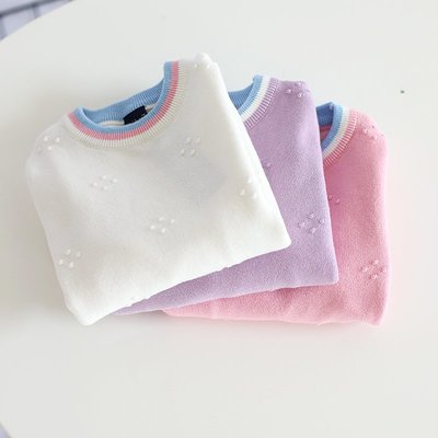 【Mr. Soar】 F370 冬季新款 歐美style童裝女童加厚毛衣 現貨