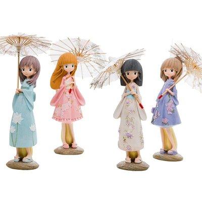 〖杉杉玩偶〗≯日式打傘娃娃少女心房間辦公室臥室可愛裝飾品生日禮物