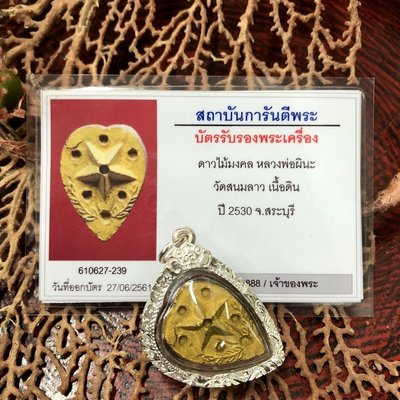 泰國佛牌正品2530龍婆碧納幸運星小模銀殼G卡轉運貝葉泰佛 C7194