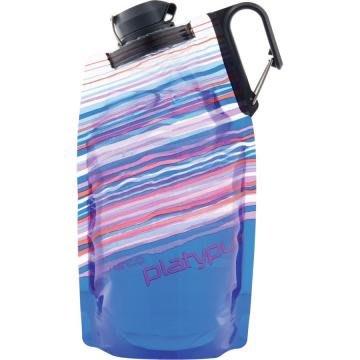 【platypus】09902 藍色天際線 1L DuoLock 軟式握把水瓶 摺疊水袋鴨嘴獸折疊水壺登山