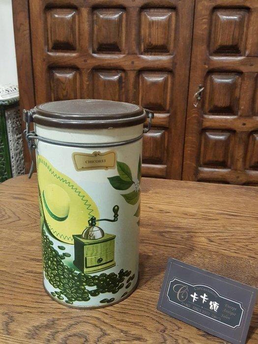 【卡卡頌 歐洲跳蚤市場/歐洲古董】歐洲老件_鐵罐 老鐵盒 咖啡罐 茶罐 復古 收納小物 m0461 提供租借✬