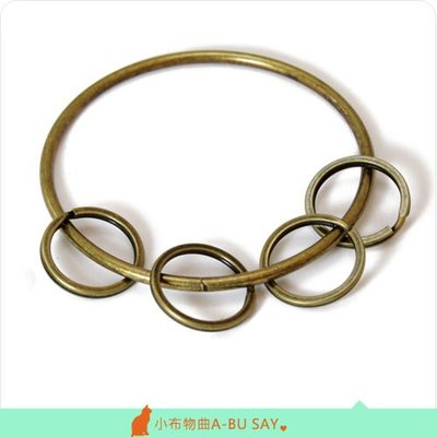 【小布物曲】五金- 可掛式鑰匙圈‧DIY材料/配件/鑰匙圈