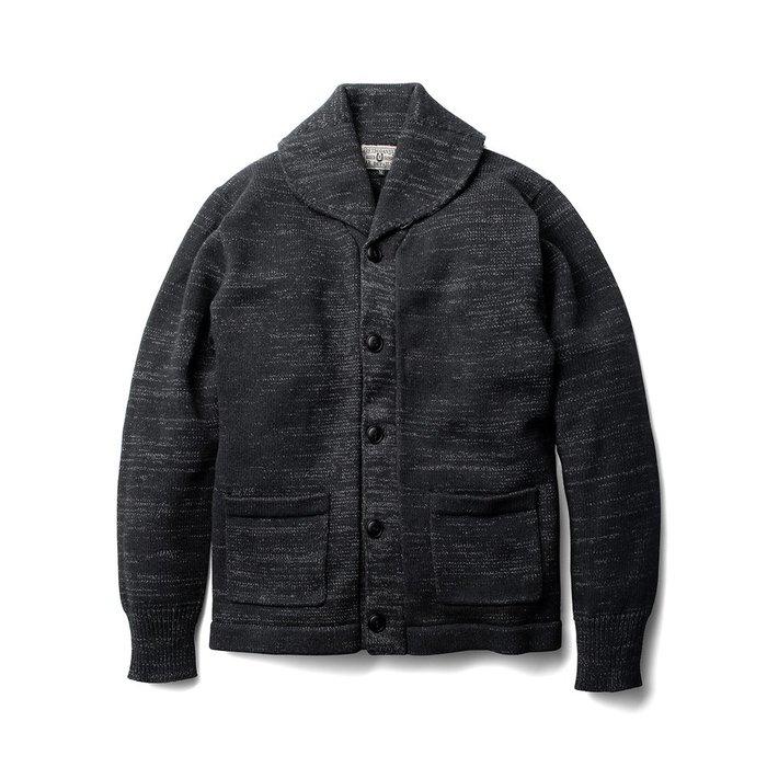 (I LOVE 樂多) Retrodandy Old Collar - 黑 Black 復古開襟毛衣外套