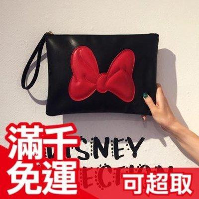 💓現貨💓下殺價 日本 Disney 米妮 手拿包 迪士尼 聖誕節 新年 送女友 情人 交換禮物☆JP PLUS+