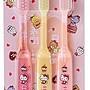 【橘白小舖】(日本製)日本進口 Sanrio Kitty 凱蒂貓 兒童牙刷 3歲以上 3支入 牙刷 兒童
