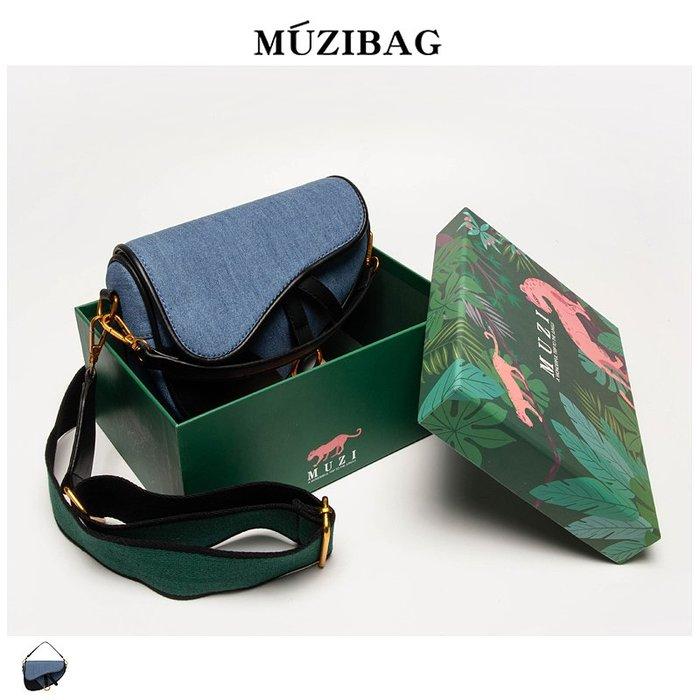 MUZI定制包包女2019夏季新款韓版百搭斜挎復古法國小眾洋氣質感包