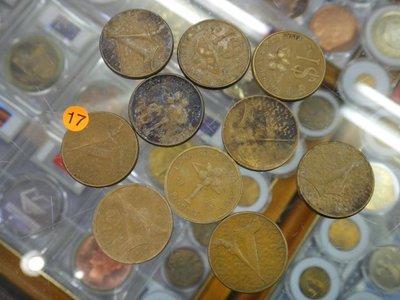☆金鈴館☆馬來西亞1991-1994年錢幣10枚~ZF017.1040901