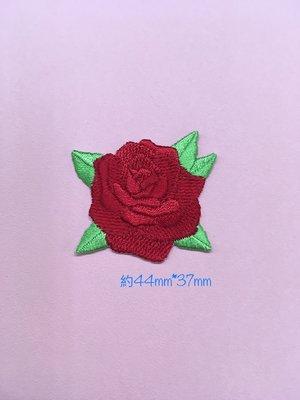 IAN'S 刺繡設計  玫瑰花--繡花貼布/繡花貼紙