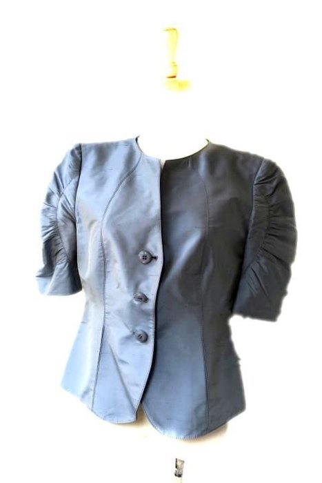 *Beauty*ARMANI灰色絲質蓬袖薄外套  WE16