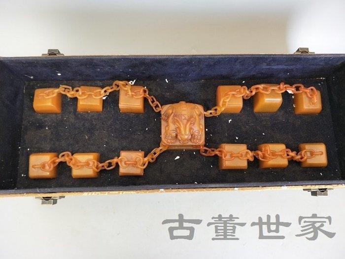 【聚寶閣】古董古玩田黃石清代傳世一套田黃石十三連印章 sbh6361