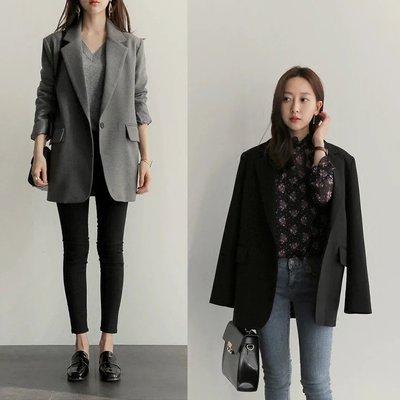 【LA Boutique】正韓東大門 韓版硬挺 中長版西裝外套 ZARA 韓妮 mercci22