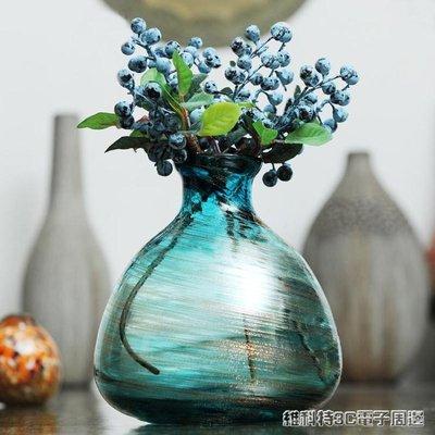 Z3千花古法金沙玻璃北歐小花瓶  歐式花插 餐桌擺設花器