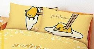 =YvH= Pillowcase 信封型薄枕套一對 (2入) 正版授權 台灣製造 蛋黃哥 Gudetama 慵懶生活