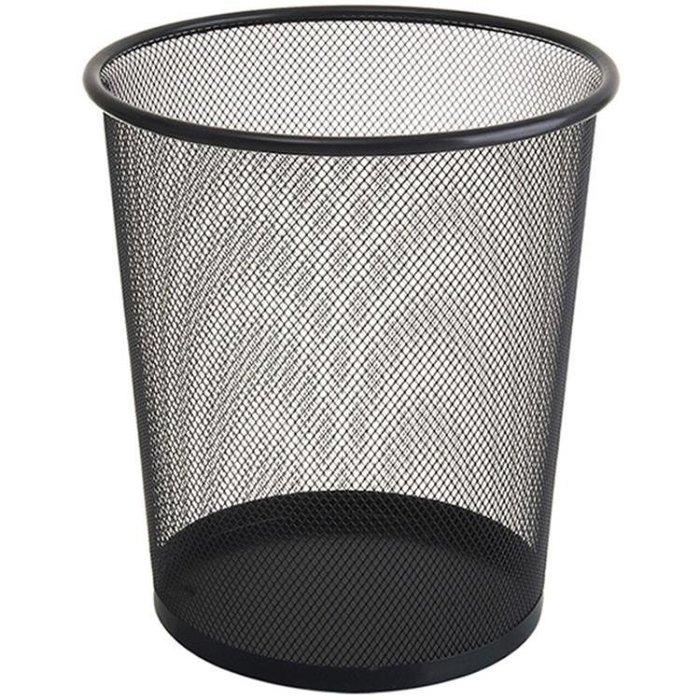 大號加厚垃圾桶防銹鐵網辦公室家用不銹鋼紙簍
