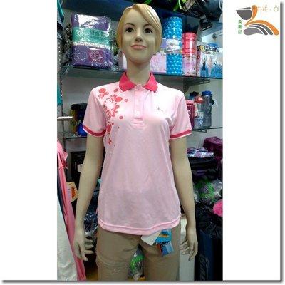 女款短袖POLO排汗衫 J22016P-1粉紅/花漾 排汗衣 抗UV 透氣 快乾 不黏身 3件1000 喜樂屋團體服訂製