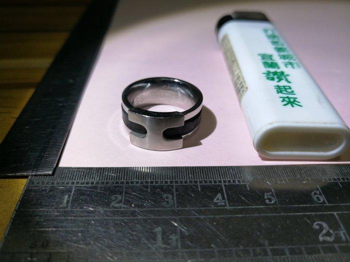 H 工 內5#316LS/S立體設計環 銘馨易拍重生網 109TD85 金屬等製 擺飾 藏品 保存如圖(老使用痕等)