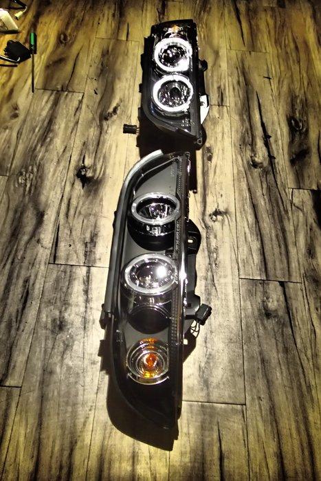 DJD19072724 BMW寶馬 02 03 04 05年E46 4D專用黑框光圈魚眼投射大燈組