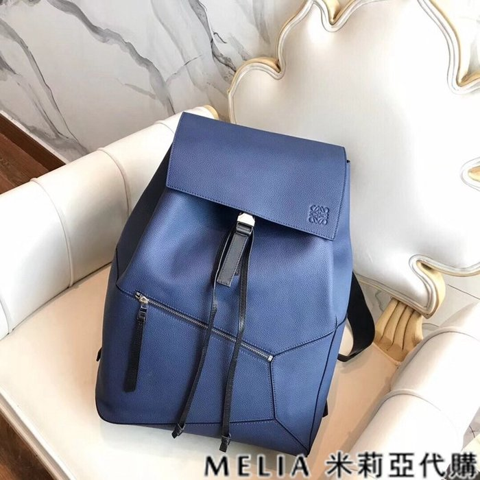 Melia 米莉亞代購 美國精品代購 LOEWE 羅意威 男式款 Backpack系列 雙肩包 後背包 藍色