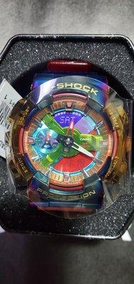 Casio G-SHOCK 紀念 手錶 GM-110-RB-2ADR彩鈦 燒鈦 雙顯 鐵盒 金屬 防水200M 彩色