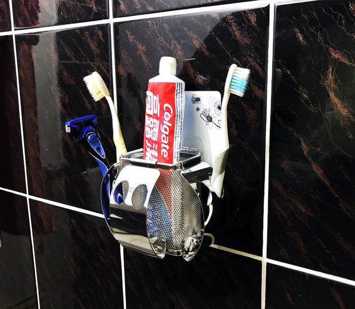 *新世代*不鏽鋼組合式大牙刷架,以無痕貼片固定,頂級SUS304不銹鋼材料,革命性新世代免鑽孔方式置物架浴室架 浴室收納