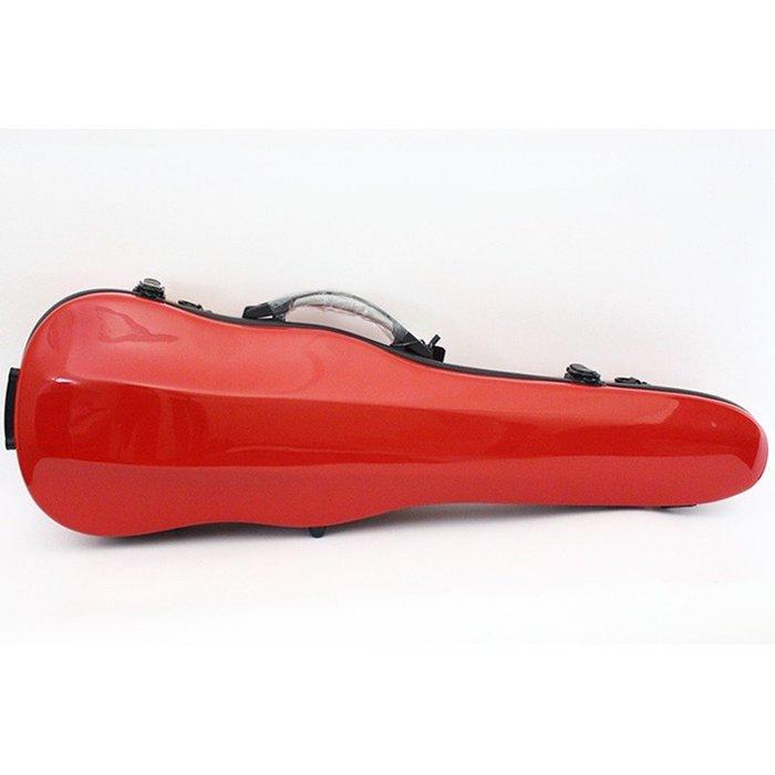 【三益琴行】紅色小提琴硬盒