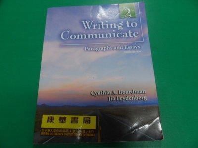 WRITING TO COMMUNICATE 2 3/E BOARDMAN PEARSON 9780132351164