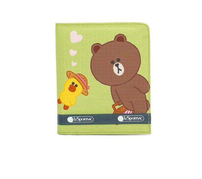 ♥ 小花日韓雜貨 ♥ --Lesportsac LINE聯名熊大兔兔錢包卡包 3460