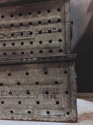 //ORI DECO工業風// 德國 工業風 可堆疊 鐵箱 鐵籃