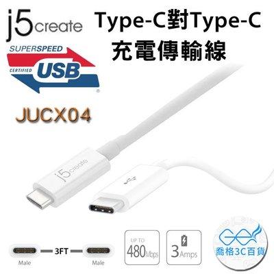 【開心驛站】Kaijet 凱捷  j5 Create JUCX04 Type-C對Type-C 充電傳輸線