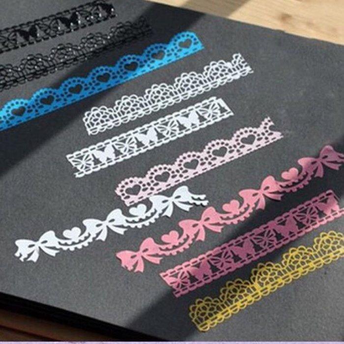 蕾絲花邊透明裝飾膠帶 DIY 手作 日記 相冊 手帳 裝飾