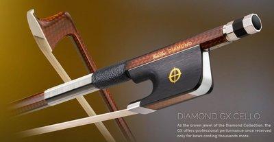 皇家樂器~全新美國Coda Bow Diamond GX Carbon Fiber 4/4 大提琴碳纖弓
